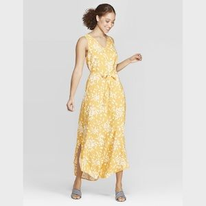 A New Day Yellow Floral Sleeveless Maxi Dress NWT